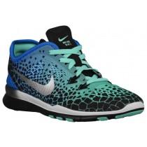Nike Performance Free 5.0 TR Fit 5 Giraffe Print - Women's Running Shoe - Black/Green Glow/Soar