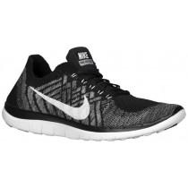 Nike Performance Free 4.0 Flyknit - Women's Training Shoe - Black/Wolf Grey/Dark Grey/White