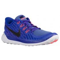 Nike Performance Free 5.0 - Women's Lightweight Running Shoes - Persian Violet/Black/Aluminum/Fuchsia Glow