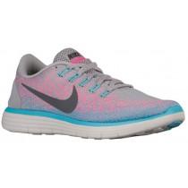 Nike Free RN Distance - Wolf Grey/Dark Grey/Pink Blast/Polarized - Women's Trainers