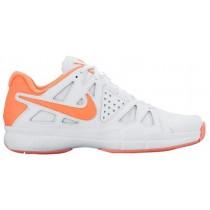 Nike Sportswear Air Vapor Advantage - Women's Outdoor Ten'snis Shoe - White/Atomic Pink/Bright Mango