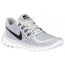 Nike Performance Free 5.0 - Women's Running Shoe - Pure Platinum/Wolf Grey/Cool Grey/Black