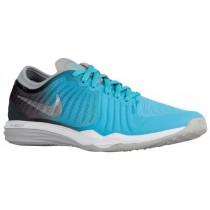 Nike Performance Dual Fusion TR 4 Print - Women's Sports Shoes - Gamma Blue/Metallic Silver/Anthracite/Blue Lagoon