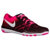 Nike Free TR Focus Flyknit - Deep Burgundy/White/Pink Blast - Women's Running Shoe