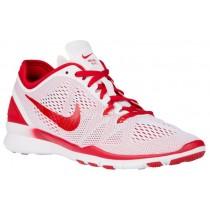 Nike Free 5.0 TR Fit 5 - Ladies Training Shoe - White/Gym Red