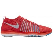 Nike Free Transform Flyknit - Bright Crimson/White/Blue Tint - Ladies Running Shoe