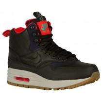 Nike Air Max 1 Mid Sneakerboot - Sequoia/Black/Bright Crimson/Mint - Women's Trainers