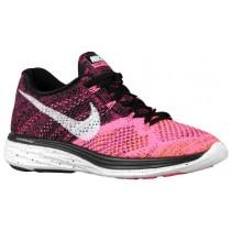 Nike Flyknit Lunar 3 - Black/White/Pink Pow/Total Orange - Women's Sneaker