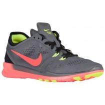 Nike Free 5.0 TR Fit 5 - Dark Grey/Hyper Orange/Black/Volt - Ladies Running Shoe