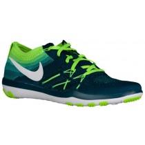 Nike Free TR Focus Flyknit - Women's Running Shoe - Midnight Turq/White/Electric Green