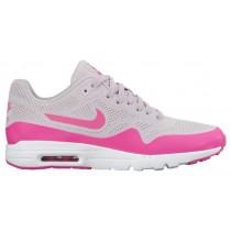 Nike Sportswear Air Max 1 Ultra Moire - Bleached Lilac/Pink Blast/White Vapor - Women's Running Shoes