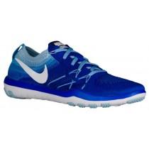 Nike Free TR Focus Flyknit - Women's Running Shoe - Racer Blue/White