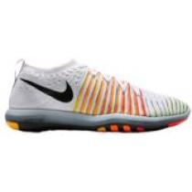 Nike Free Transform Flyknit - White/Black/Laser Orange/Bright Crimson/Volt - Women's Running Shoe