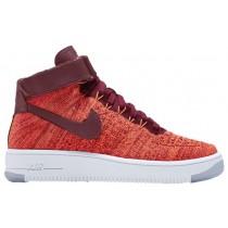 Nike Sportswear Air Force 1 Hi Flyknit - Total Crimson/Team Red - Ladies Shoes
