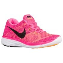 Nike Flyknit Lunar 3 - Pink Blast/Fireberry/Laser Orange/Black - Women's Sneaker