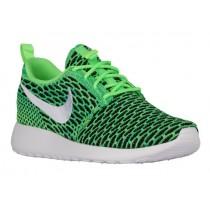Nike Roshe One Flyknit - Voltage Green/White - Women's Shoe