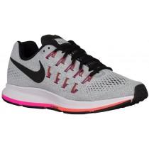 Nike Performance Air Zoom Pegasus 33 - Ladies Running Shoe - Pure Platinum/Cool Grey/Pink Blast/Black