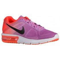 Nike Performance Air Max Sequent - Fuchsia Glow/Hyper Orange/Vivid Purple/Black - Women's Running Shoe