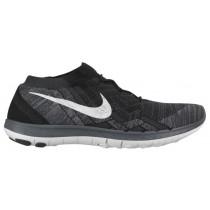 Nike Free 3.0 Flyknit - Black/White/Anthracite - Women's Lightweight Running Shoes