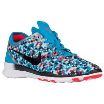 Nike Performance Free 5.0 TR Fit 5 - Blue Lagoon/Black/Bright Crimson - Women's Lightweight Running Shoes