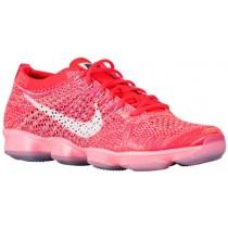 Nike Performance Flyknit Zoom Agility - Bright Crimson/Light Aqua/Lava Glow/White - Women's Training Shoe