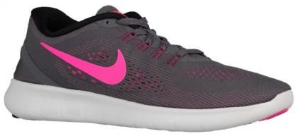 72ee761efb333 Get Nike Free RN Ladies Trainers Dark Grey Black Cool Grey Pink ...