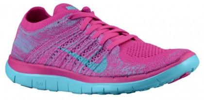 Nike Free 4.0 Flyknit - Women's Training Shoe - Fuchsia Flash/Medium Violet/Polarized Blue