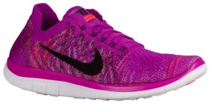 Nike Performance Free 4.0 Flyknit - Women's Running Shoe - Vivid Purple/Fuchsia Glow/Bright Crimson/Black
