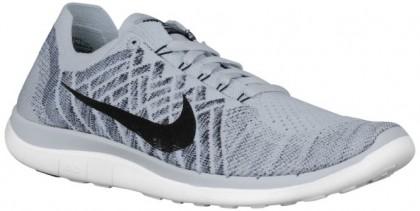 Nike Free 4.0 Flyknit - Pure Platinum/White/Cool Grey/Black - Men's Lightweight Running Shoes