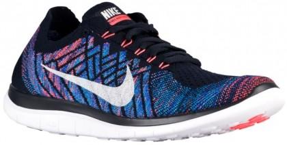 Nike Free 4.0 Flyknit - Dark Obsidian/Hot Lava/Game Royal/Summit White - Men's Training Shoe