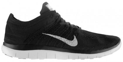 Nike Performance Free 4.0 Flyknit - Women's Running Shoe - Black/Dark Grey/White