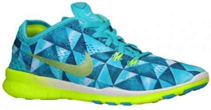 Nike Performance Free 5.0 TR Fit 5 Print - Women's Running Shoe - Lt Retro/Artisan Teal/White/Volt
