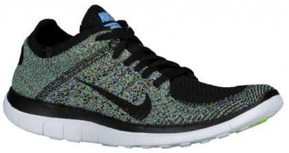 Nike Performance Free 4.0 Flyknit - Black/University Blue/Electric Green/Black - Ladies Running Shoe