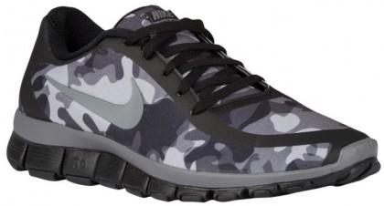 Nike Performance Free 5.0 V4 NS Camo Print - Ladies Running Shoe - Black/Cool Grey/Wolf Grey/Anthracite