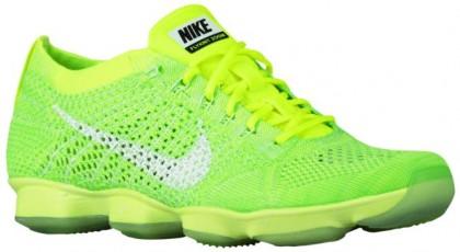 Nike Flyknit Zoom Agility - Volt/Electric Green/Vapor Green/White - Women's Sports Shoes