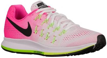 Nike Performance Air Zoom Pegasus 33 - White/Pink Blast/Electric Green/Black - Women's Running Shoe