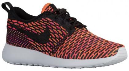 Nike Performance Roshe One Flyknit - Anthracite/Black/Vivid Purple/Hyper Orange - Women's Shoe