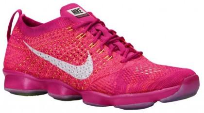 Nike Performance Flyknit Zoom Agility - Fireberry/Hyper Punch/Raspberry/White - Women's Sports Shoes