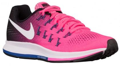 Nike Performance Air Zoom Pegasus 33 - Pink Blast/Black/Dark Purple Dust/White - Women's Neutral Running Shoes