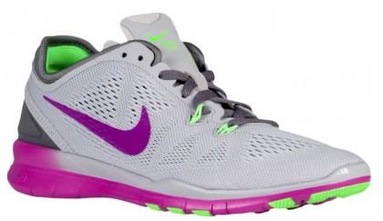 Nike Performance Free 5.0 TR Fit 5 - Wolf Grey/Vivid Purple/Voltage Green/Dark Grey - Ladies Training Shoe