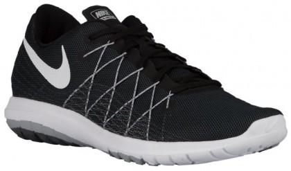 Nike Performance Flex Fury 2 - Men's Competition Running Shoes - Black/Wolf Grey/Dark Grey/White
