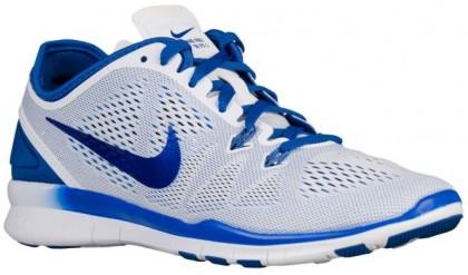 Nike Performance Free 5.0 TR Fit 5 - White/Game Royal - Women's Running Shoe