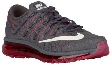 Nike Air Max 2016 - Men's Running Shoes - Dark Grey/University Red/Cool Grey/Sail