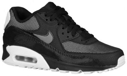 Nike Sportswear Air Max 90 Premium - Women's Running Shoes - Black/Metallic Silver/White