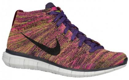 Nike Free Flyknit Chukka - Grand Purple/Black/Fireberry - Men's Running Shoe