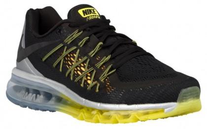 Nike Sportswear Air Max 2015 - Men's Shoes - Black/Sonic Yellow/Metallic Silver