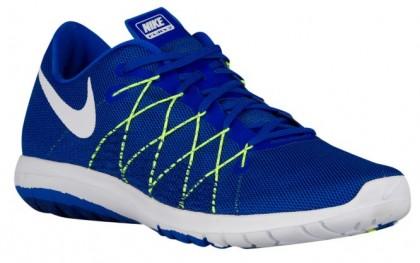 Nike Performance Flex Fury 2 - Men's Competition Running Shoes - Racer Blue/Volt/Deep Royal Blue/White