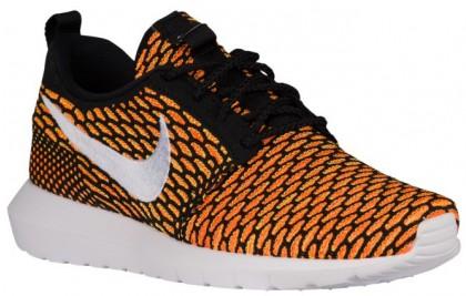 Nike Roshe One Flyknit NM - Men's Training Shoe - Black/Total Orange/Volt/White