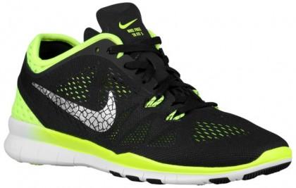 Nike Performance Free 5.0 TR Fit 5 Breathe - Women's Trainers - Black/Volt/Metallic Silver
