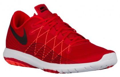 Nike Flex Fury 2 - Men's Competition Running Shoes - University Red/Black/Total Crimson/White